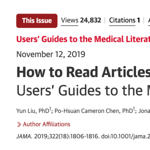 How to Read Articles That Use Machine Learning: Users' Guides to the Medical Literature